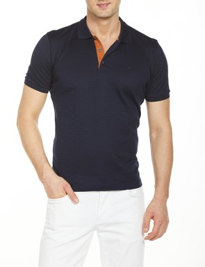 8681946176596 Regular Fit Desenli Polo Yaka T-Shirt