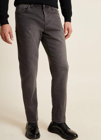 Regular Fit Gri Jean Pantolon