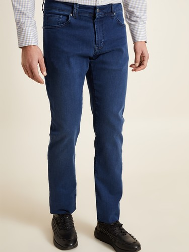 8681946252627 Regular Fit Lacivert Jean Pantolon