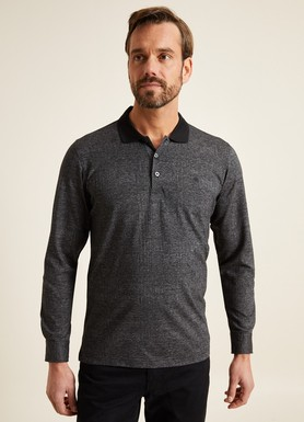 8681946255437 Regular Fit Desenli Polo Yaka Sweatshirt