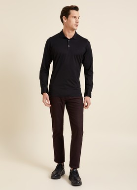 8681946009597 Regular Fit Manşetli Polo Yaka Sweatshirt