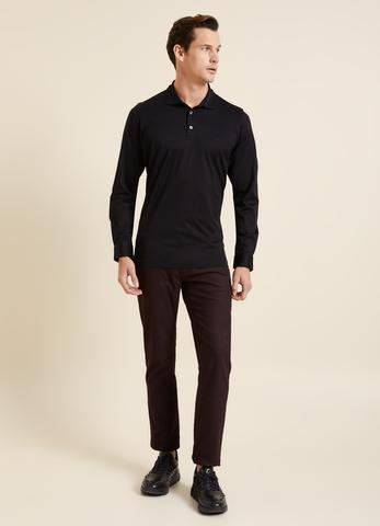Regular Fit Manşetli Polo Yaka Sweatshirt