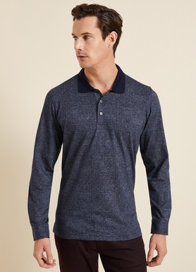 8681946255390 Regular Fit Desenli Polo Yaka Sweatshirt
