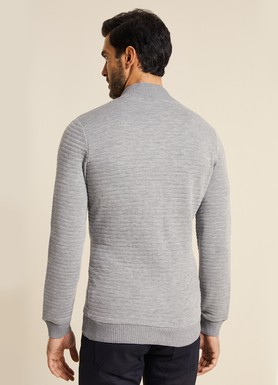 8681946131946 Slim Fit Fermuarlı Sweatshirt