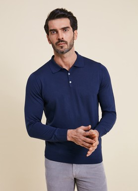 8681946258582 Regular Fit Düz Polo Yaka Triko